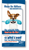 Flyer Alpha Clean Rohrreinigung